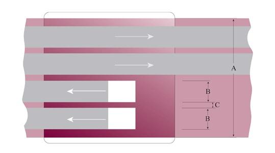 Stereo Cassette head configuration